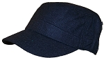 David & Young Mens Elastafit Faux Wool Summer Cadet Hat With Zipper