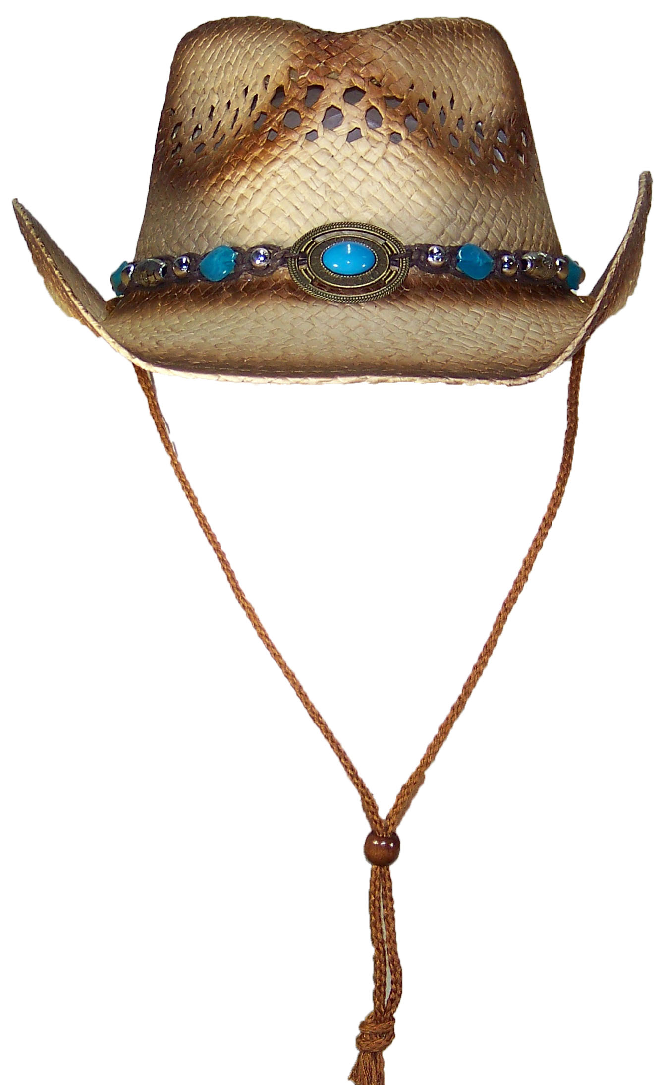 30aee296575 Tropic Hats Little Kids Paper Straw Cowboy Cowgirl W Band   Buckle
