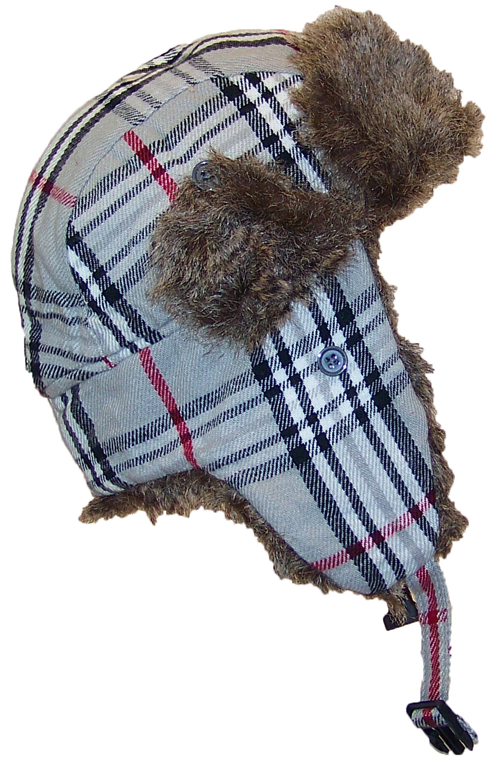 Best Winter Hats Adult Plaid Russian Trooper W Soft Faux Fur Cap ad66f007e41