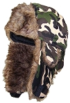 Best Winter Hats Adult Camouflage Nylon Russian Hat W/Soft Faux Fur
