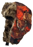 Best Winter Hats Orange Real Tree Camouflage Hunter/Trapper Winter Hat