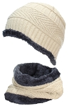 Best Winter Hats Adult Insulated Beanie & Neck Warmer Set W/Faux Fur Liner