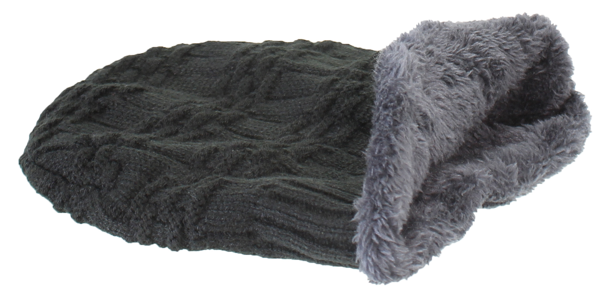 a9ccb8be Best Winter Hats Adult Insulated Basketweave Knit Beanie W/Faux Fur Liner