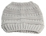 Best Winter Hats Womens Ribbed Knit Messy Bun/Ponytail Beanie