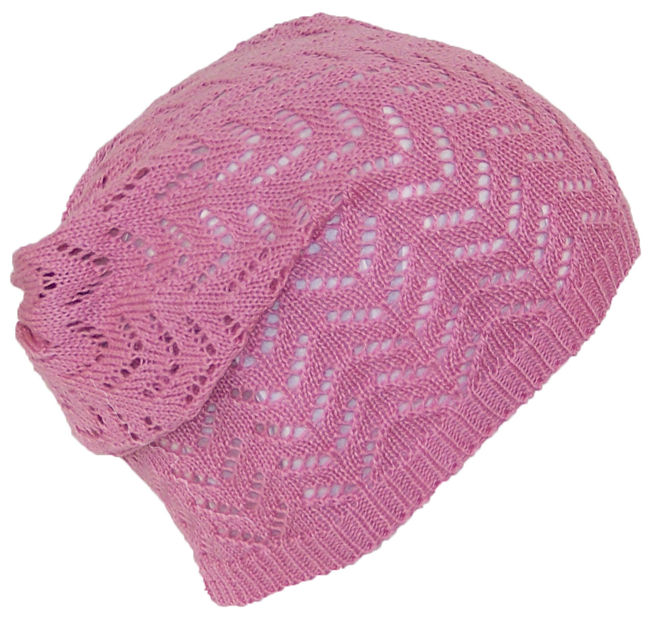Knit Skull Cap Pattern : David & Young Womens Loose Knit Lightweight Chevron Pattern Beanie/Skull Cap