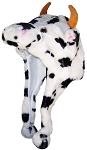Best Winter Hats Adult/Teen Cow Animal Character Ear Flap Hat