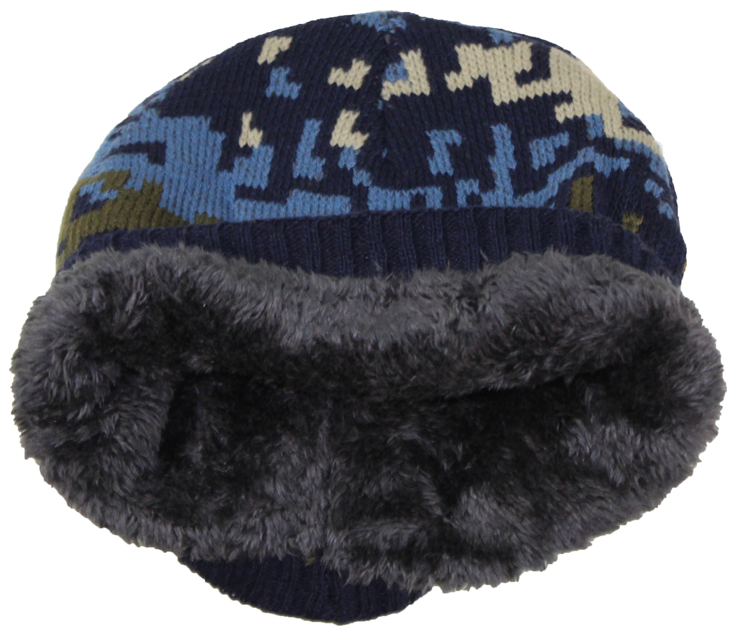 3dfa1294 Best Winter Hats Cuffless Camouflage Beanie W/Lining (One Size)
