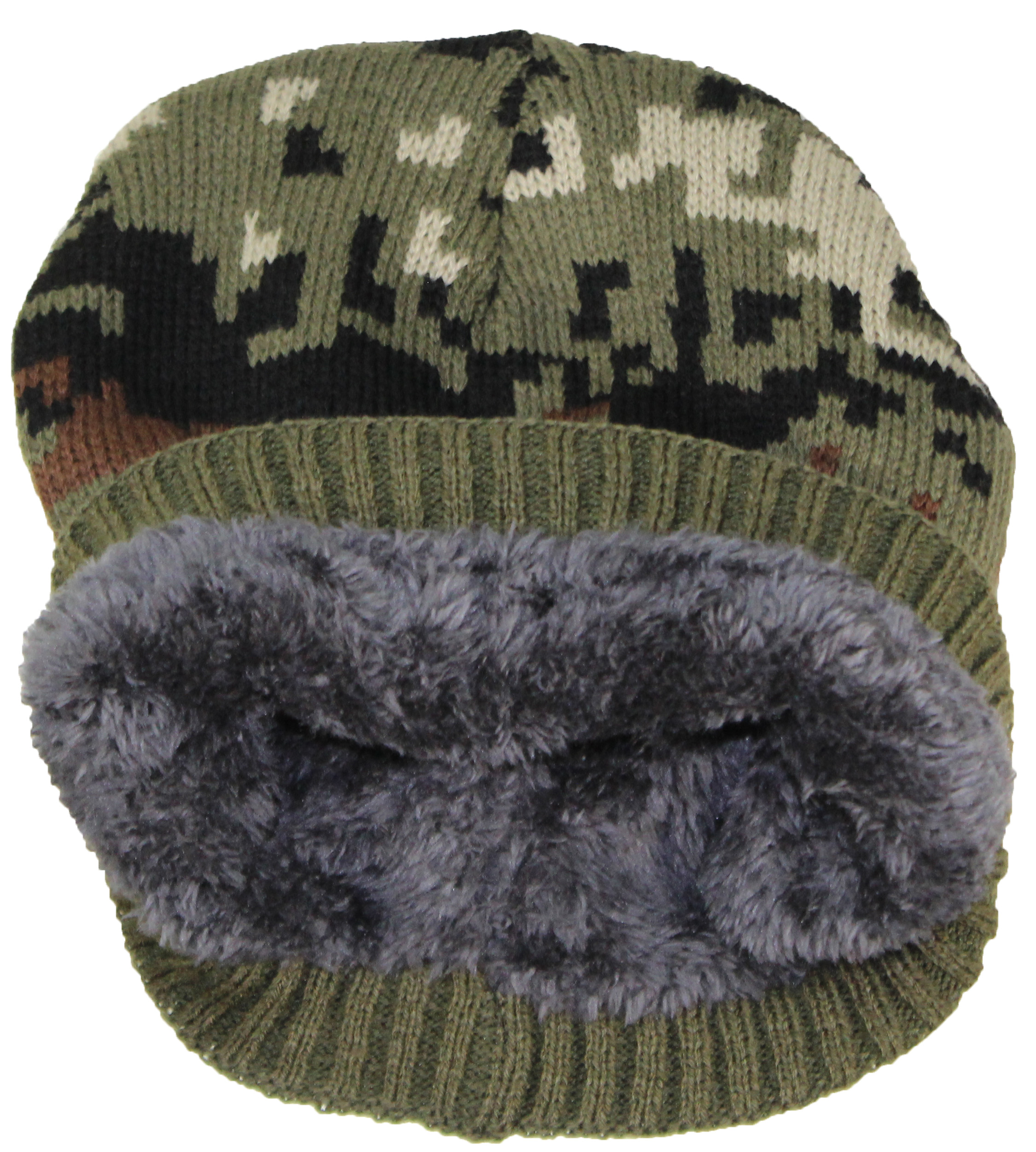 fac8e3d9b Best Winter Hats Cuffless Camouflage Beanie W/Lining (One Size)