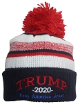 Best Winter Hats Adult Trump 2020 Keep America Great Ribbed Cuff Beanie w/Pom Pom