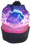 Best Winter Hats Sublimation Print Cuffed Slouchy W/Pom Pom