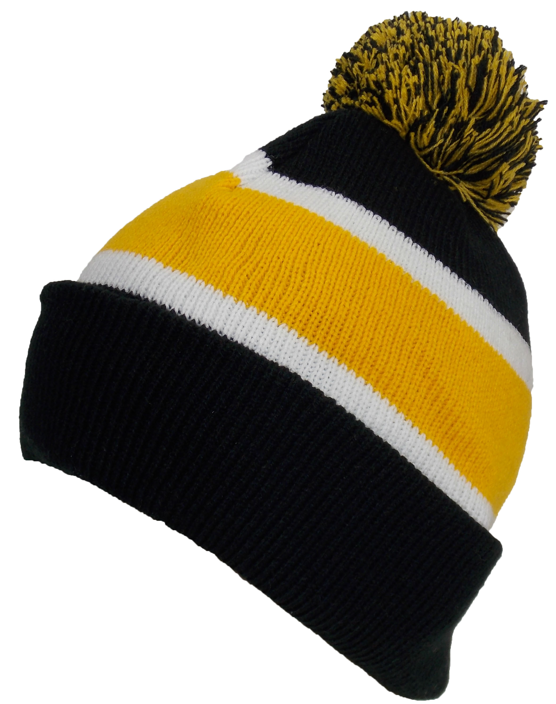 Best Winter Hats Quality Cuffed Hat with Large Pom Pom (Fits Large ... c39198a6774