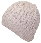 Angela & William Adult Tight Cable & Rib Knit Cuffed Winter Hat