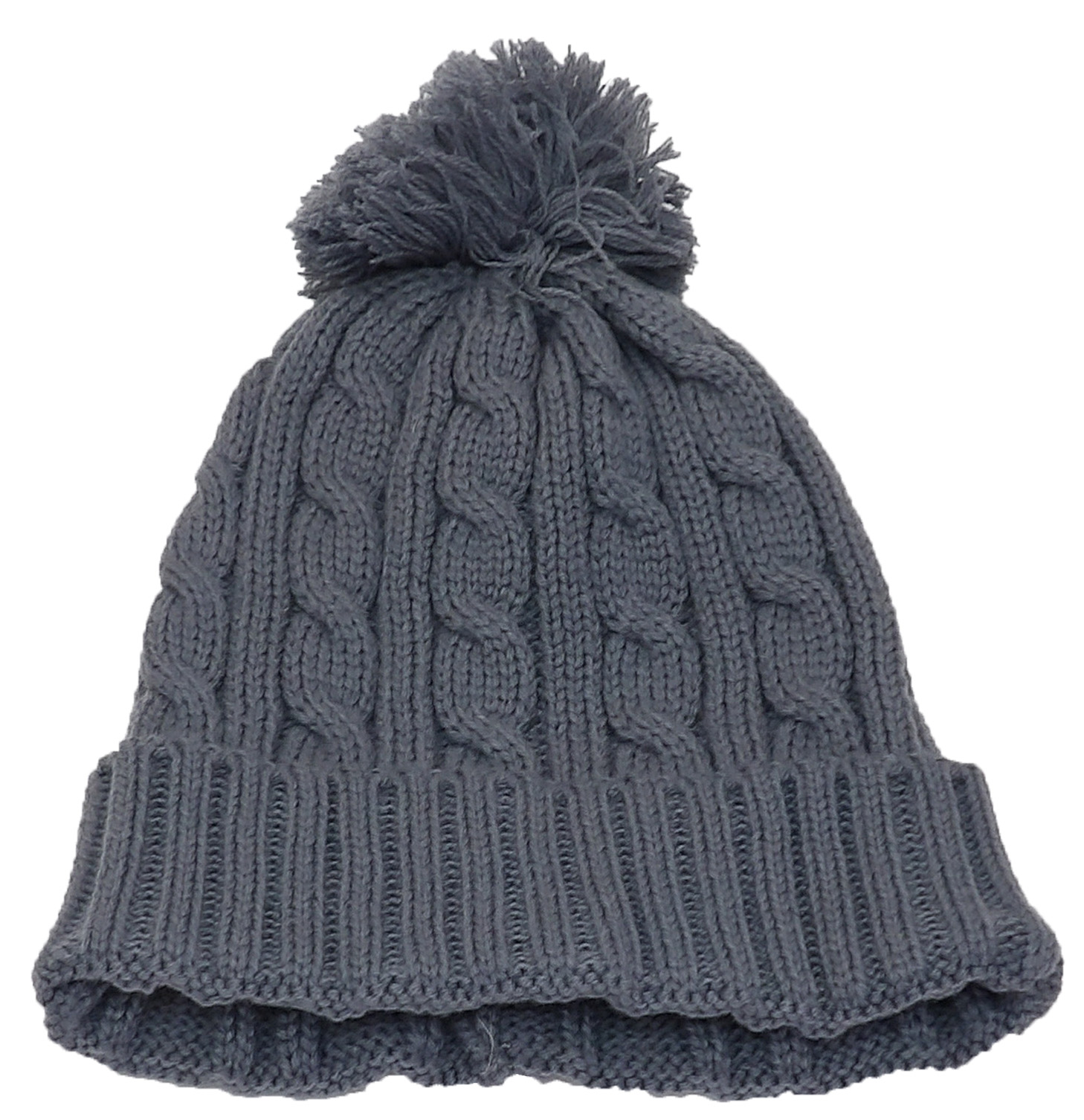 1f4affe8a87 Best Winter Hats Womens Tight Cable Knit Cuffed Cap W/Pom