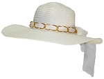 Tropic Hats Womens Wide Brim Sun Floppy Cap W/Metal & Sheer Band