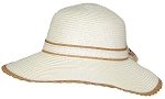 Tropic Hats Womens Wide Brim Sun Floppy Cap W/Band & Bow