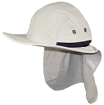 Stone Age Men/Women Wide Brim Summer Hat with Neck Flap