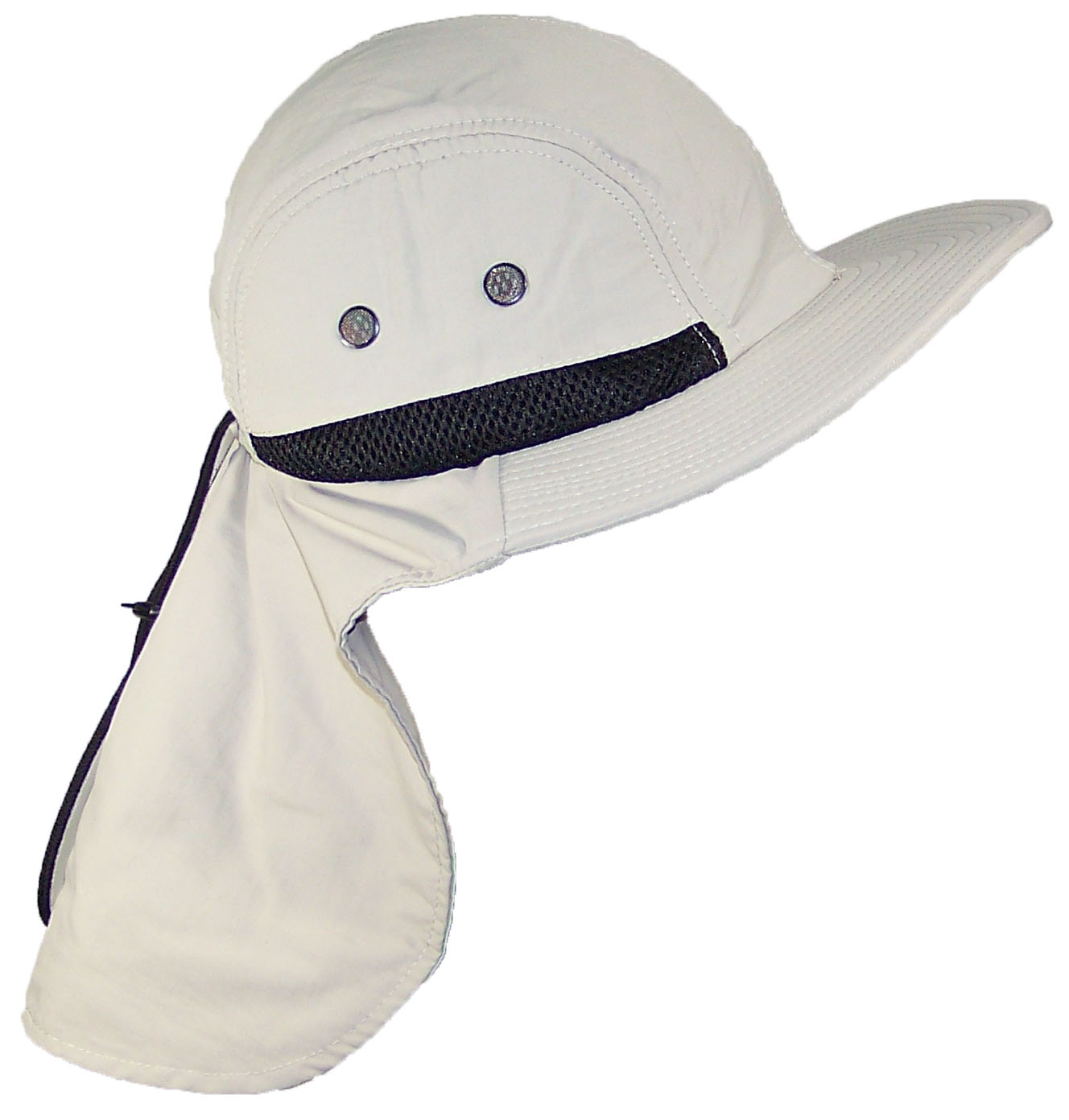 4505a4fe Magracy Mens Outdoor Wide Brim Sun Hat with Neck Flap Mesh UV Protection  Fishing Hats