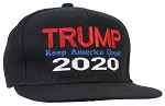 Tropic Hats Adult Embroidered Trump 2020 Keep America Great Flat Bill Snapback