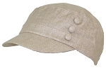 Tropic Hats Womens Tweed Military/Cadet 3 Button Cap W/Floral Lining