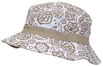 Solid Wing Reversible Summer Floppy Bucket Hat W/Hawaiian Designs