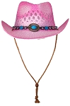 Tropic Hats Adult Paper Straw Cowboy/Cowgirl Cap W/Band & Buckle
