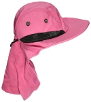 Tropic Hats Kid/Child Wide Brim Mesh Summer Hat with Neck Flap