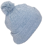 Best Winter Hats Adult Variegated Striped Cuffed Hat W/Pom (Fits Large Heads)