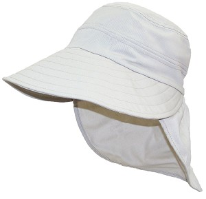 Solid Wing Womens Floppy Wide Brim Summer Hat W/Neck Flap