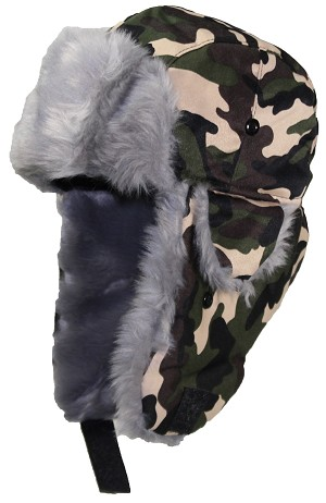 Best Winter Hats Adult Camouflage Cotton Russian W/Soft Faux Fur