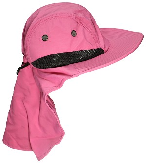 Tropic Hats Kid Child Wide Brim Mesh Summer Hat with Neck Flap 74a79a83467c