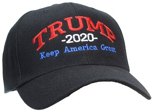 Tropic Hats Adult Embroidered Trump 2020 Keep America Great Campaign Cap
