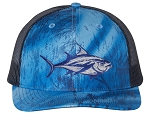 Tropic Hats Embroidered Bluefin Tuna 6 Panel Realtree Fishing Trucker Cap