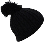 Best Winter Hats Little Girls Tight Cable Knit Skull Cap W/Pom