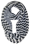 Best Winter Hats Womens Chevron & Striped Design Reversible Infinity Scarf