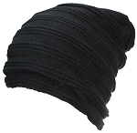 Best Winter Hats Adult Solid Garter & Rib Knit Beanie W/Faux Fur Liner