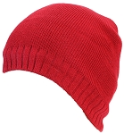 Best Winter Hats Adult Solid Color Tight Rib Knit Beanie W/Faux Fur Liner