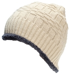 Best Winter Hats Adult Insulated Basketweave Knit Beanie W/Faux Fur Liner