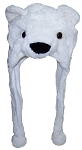 Best Winter Hats Adult/Teen Plush Polar Bear Animal Character Ear Flap Hat (One Size)