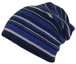 Best Winter Hats Adult Reversible Striped Slouchy W/Fleece Lining