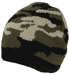 Best Winter Hats Cuffless Camouflage Beanie W/Lining (One Size)