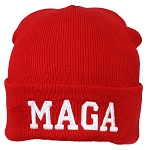 Best Winter Hats Adult Embroidered MAGA Donald Trump Tight Knit Beanie