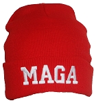 Best Winter Hats Adult USA Made Embroidered MAGA Tight Knit Beanie