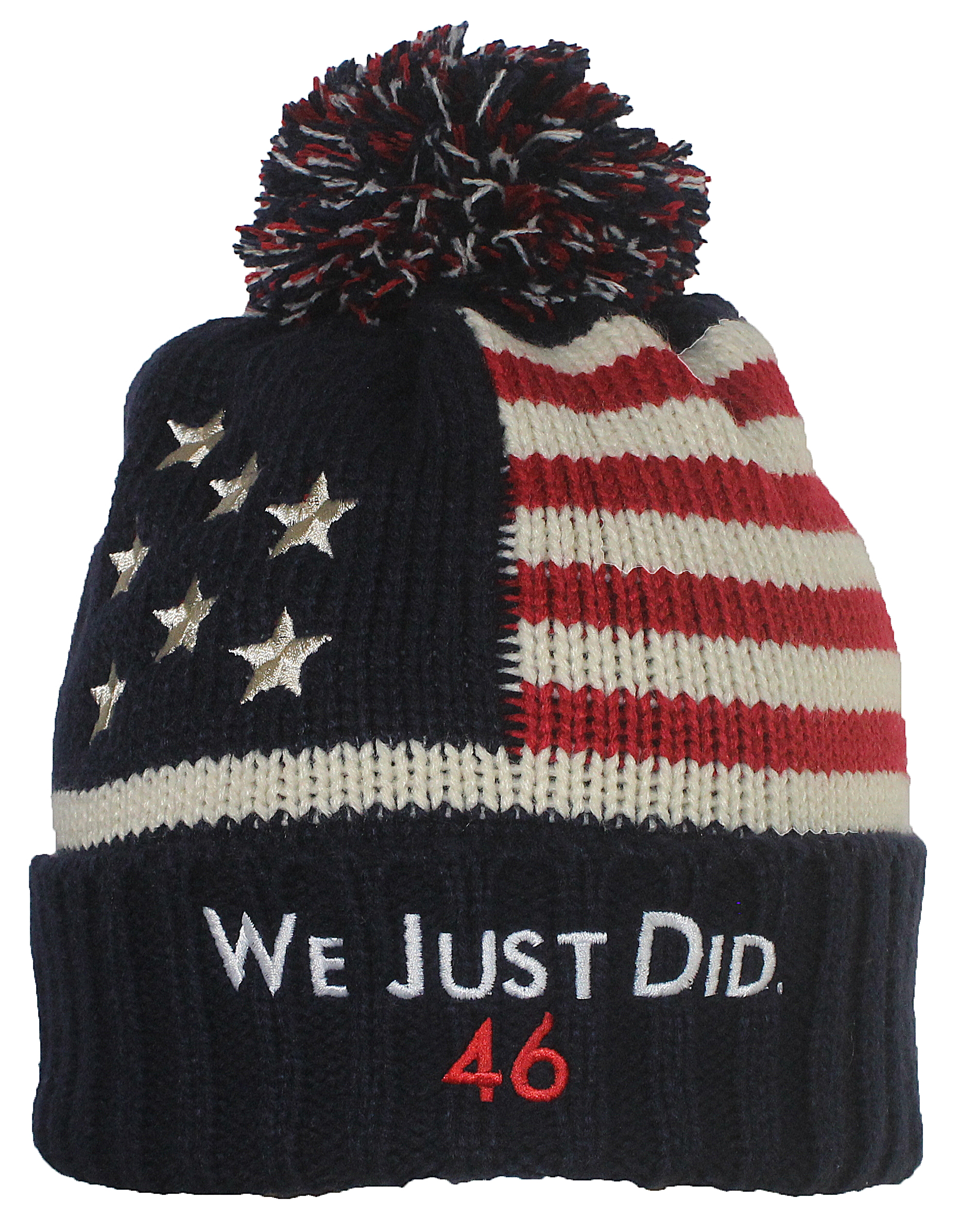 Best Winter Hats Adult US Flag Embroidered We Just Did 46 President Joe Biden