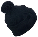 Best Winter Hats Quality Solid Color Cuffed Hat W/Large Pom Pom (Fits Large Heads)