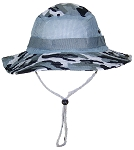 Tropic Hats Adult Camouflage Ripstop Boonie W/Mesh & Snap Up Sides