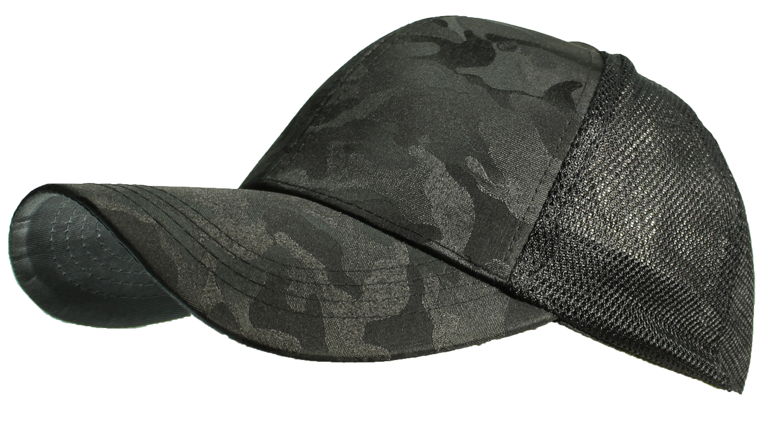 Tropic Hats Adult Camouflage Mesh Trucker Snapback Cap W/Pre-Curved Bill