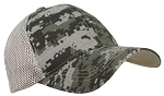 Tropic Caps Adult Cotton Ripstop Camouflage Soft Mesh Adjustable Trucker Cap