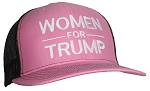 Tropic Hats Adult Embroidered Women For Trump 6 Panel Trucker Cap W/Snapback