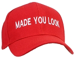 Tropic Hats Adult Embroidered Made You Look Structured Adjustable Cap - Red