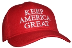 Tropic Hats Embroidered KEEP AMERICA GREAT Trump Structured Adjustable Ballcap
